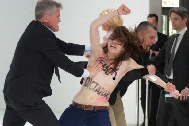 Les Femen à Hanovre - Photo DR Femen France/ Facebook