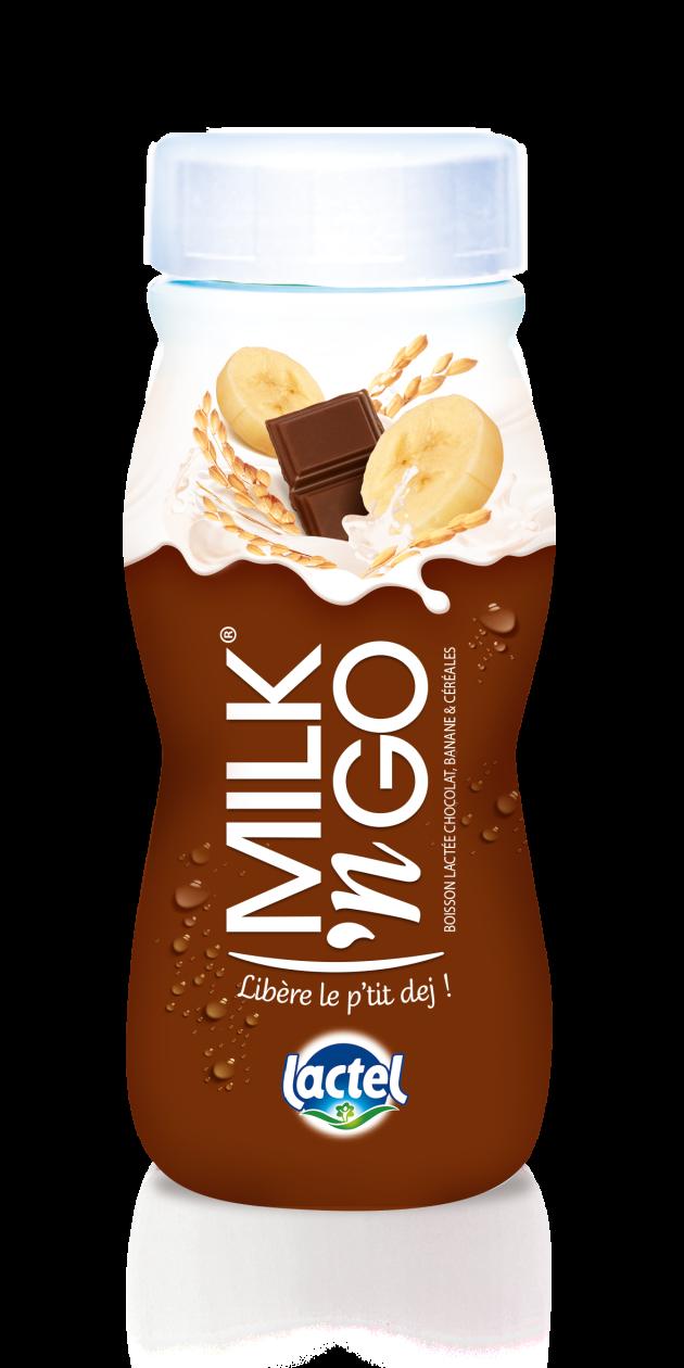 lactel banane chocolat