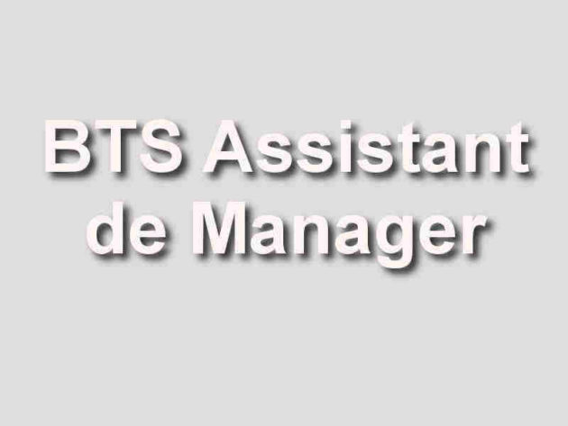 bac  2   bts assistant de manager